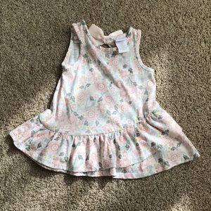 Pastel floral tunic with bow size 12 month